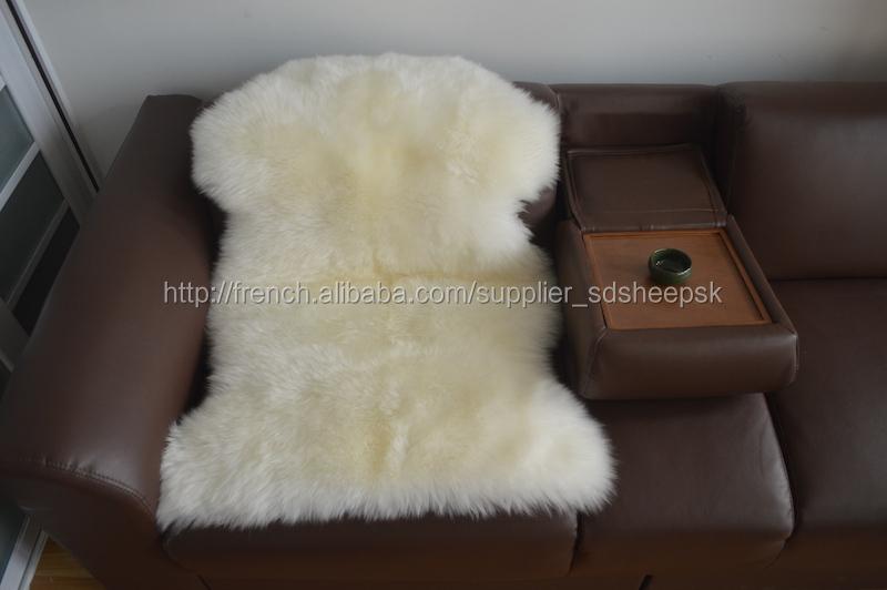 Fou de vente unique en peau de mouton de la laine tapis tapis de laine de cha - Vente unique point com ...