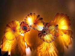 Wholesale home wall decor Hand made blown glass wall plates