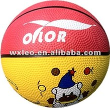 Inflatable rubber basketballs