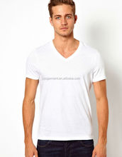 Wholesale mens blank t shirts cheap t shirts in bulk plain with v neck