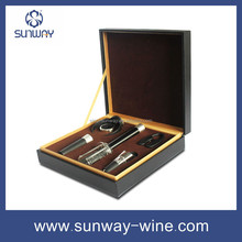 Leather wine gift set Cool business gifts high quality gift item