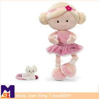 Wholedale new arrival stuffed soft plush toy cute pretty girl dolls for children
