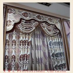 2015 lastest design fabric curtain for window in china