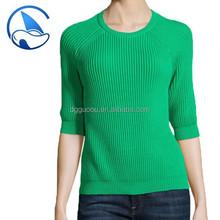 high fashion casual wear woman sweater 100 cotton yarn