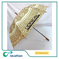 The European classic fancy printed old fashion umbrella for lady