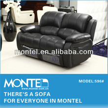 black modern leather recliner sofa set
