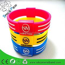 Wholesale custom Sports energetic bracelet balance ion strength band