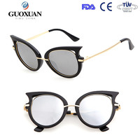 Stainless Cat eye women retro sunglasses own logo American brand high quality sunglasses