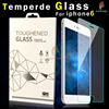 9h 0.33mm front and back colorful tempered glass screen protector for iphone 4, 5, 6, 6plus with adidas brand