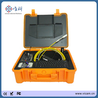 521Hz transmitter locator 8'' monitor drain pipe sewer pipeline inspection camera video