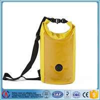 Waterproof dry bag dry sack swim pack camping bag with clear show window