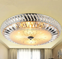 Tiffany ceiling lamp shade, silver led ceiling light