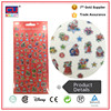 Custom Snowman shape adhesive Clear epoxy resin domed sticker
