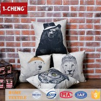 Creative Fashion Animal Character Printed Designs Cushion Inflatable Lumbar Support Chair Cushions For Sale Cheap