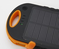 Portable electronics patent design solar sun charger mobile with 12000mAh capacity