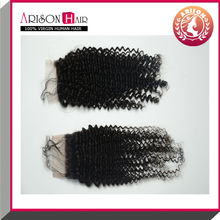 Cheap lace top closure mongolian kinky curly closures