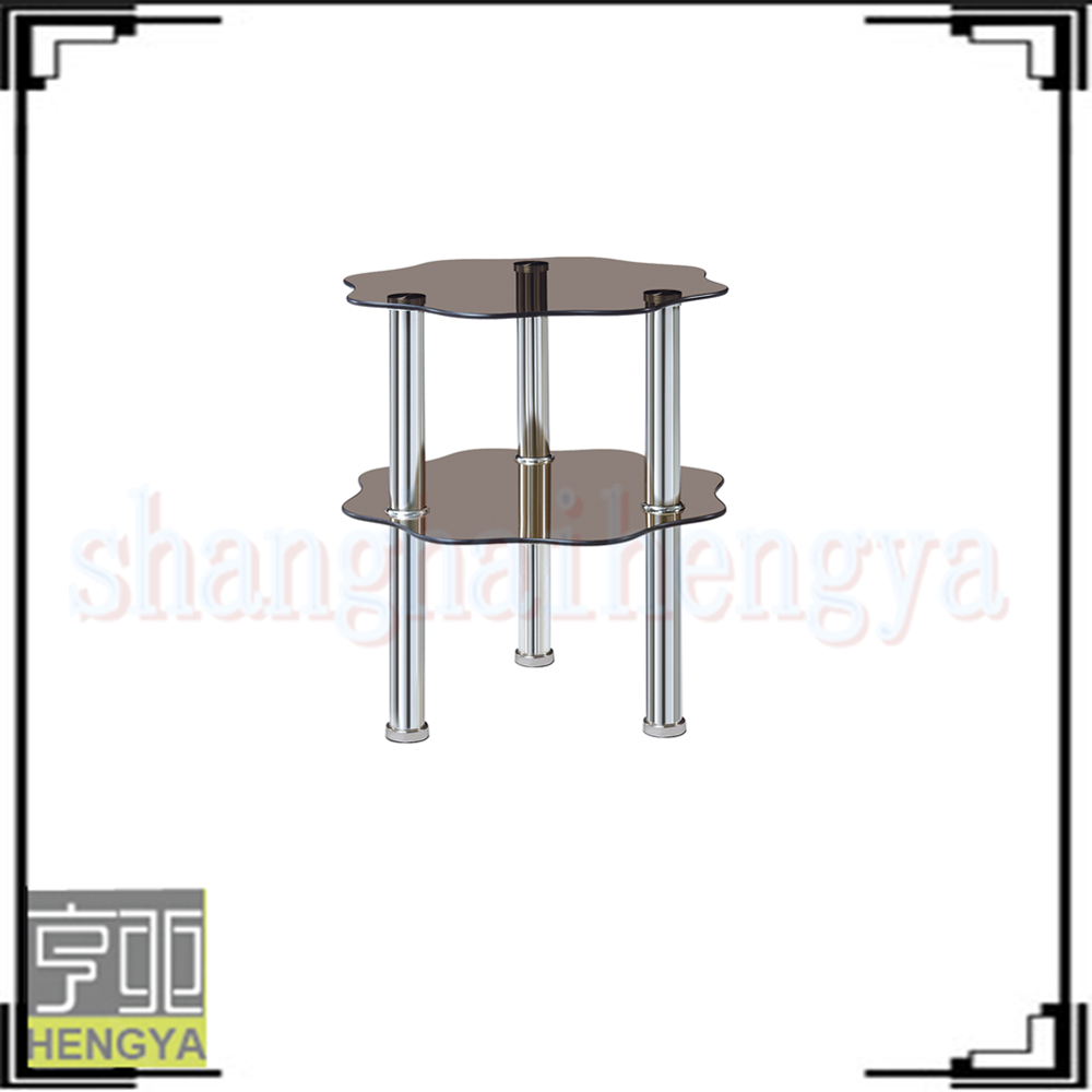 Luxury glass triangle cream color coffee tables buy for Cream glass coffee table
