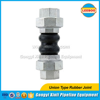 Screwed rubber expansion joint double sphere flexible rubber joint