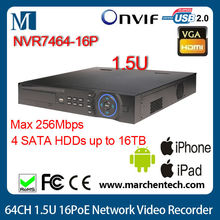 big stock dahua wholesale NVR7464-16P 16 channel 1.5U 16PoE Network Video Recorder