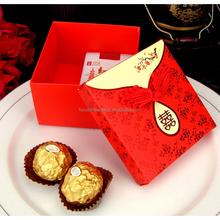 Red wedding favor box, wedding gift box