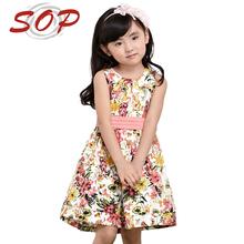 Novo modelo de alta qualidade roupa das crianças criança vestido da menina
