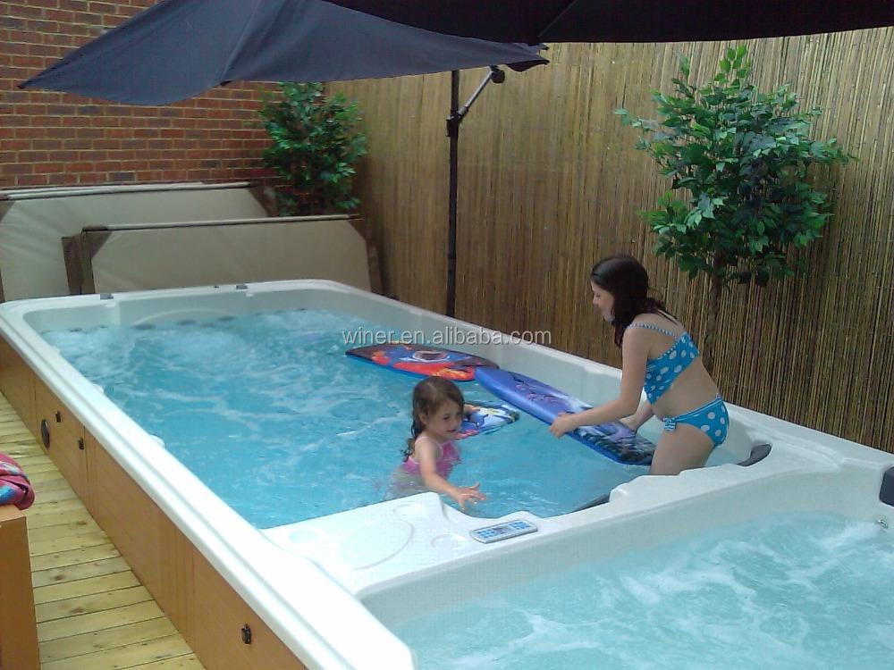 5800 mm autoportante Balboa système de contrôle longues intérieur et d'extérieur acrylique utilisé natation spa piscine à vendre
