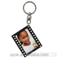2014 personalized black custom acrylic girl key chain hot sale