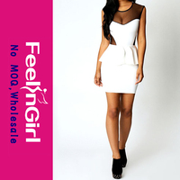 Cheap Hot Selling Black LaceTwo Piece Pvc Dress Bondage