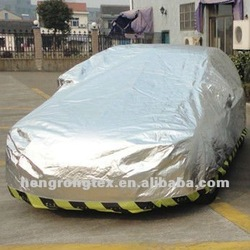 fire proof waterproof oxford coated/hot silver car cover