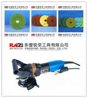 Hot Sale Double transmission Reduction Electric 150MM Marble Stone Wet/Dry Polisher/Sander/Grinder