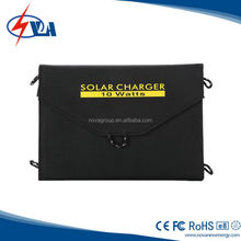 10W Portable Folding solar cell phone charger for Anything with a USB Connection