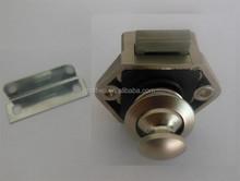 P01-s Mini níquel sin llave empujón Catch Push Latch RV caravana autocaravana barco Knob cajón de la cocina cerradura del gabinete