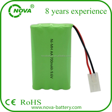 ni-mh 700mah aa 9.6v rechargeable battery pack