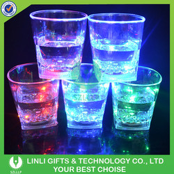 Multicolor Changing Light Up Flashing 10OZ Square Bottom Drinking Glass With LED