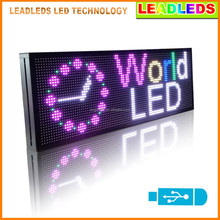 CE approved P10 electronic program P10 multi/full color outdoor led signs light display board