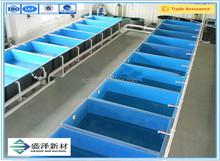 Gran empresa grp acuicultura de fibra de vidrio pecera