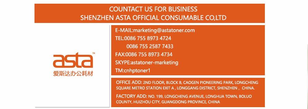 ASTA Marca Wholesale China Premium Toner Cartuchos CE285A 285A 85A, compatível para HP Copiadora Cartucho de Toner de Impressora A Laser