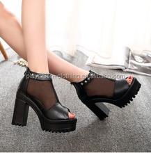 summer fashion black white high heel sandals women cheap price fancy sadal