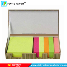 Stationery Custom Sticky Note Pad With Wooden Case For Office And School Supply
