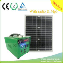 solar power system with enjoy entertainment and mobile charging ,lighting ,fan