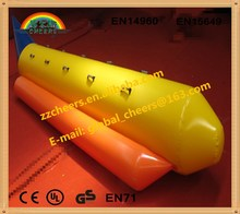 Inflatable water sport toys, funny inflatable water game floating inflatable water banana ship