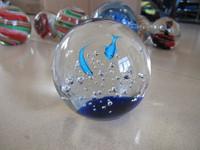 2014 New Fashion handmade glass sphere fish and sea
