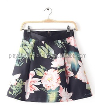 Ladies short casual colorful skirt beautiful design short skirts women elegant dress