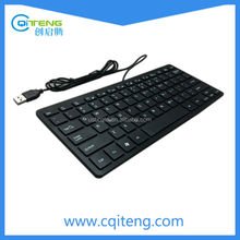 Mini Keyboard For Tablet PC Mini Wired Keyboard White ABS Material External Keyboard