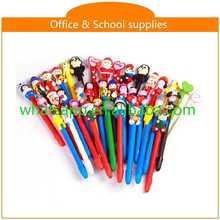 High quality cartoon polymer clay ball pens disapear refill erasable pen
