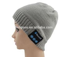 Venta al por mayor unisex bluetooth personalizada de la gorrita tejida del sombrero del invierno