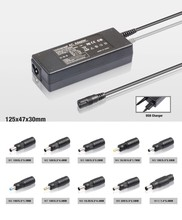 slim universal laptop adapter with 10 led tips led display 5V2A USB port for HP DELL IBM