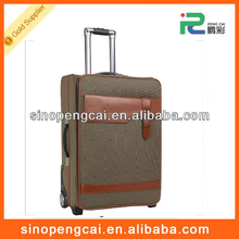 cheap eminent pu trolley travel luggage