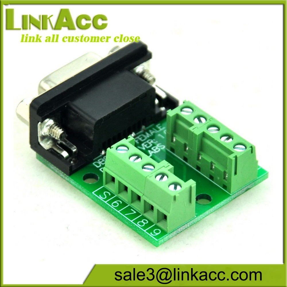 Slim Right Angle D/'SUB Header Breakout Board Terminal Block DSUB Connector.
