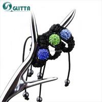 Fashion Wholesale Woven Single Stone Ring Designs GSR001